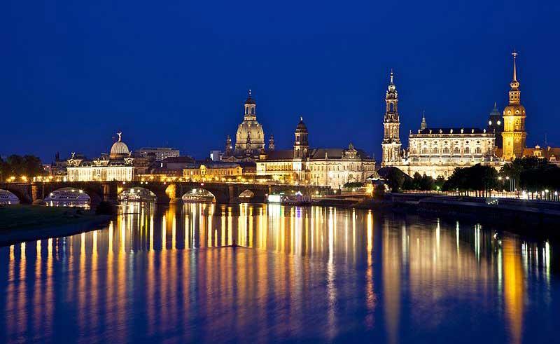 Dresda, capitale della Sassonia, Land della Germania. Foto di Jiuguang Wang