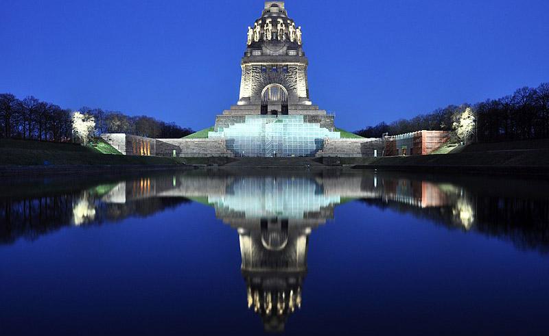 Il monumento della battaglia delle nazioni a Lipsia