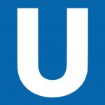 Il logo della U-Bahn, metropolitana del sistema di trasporto tedesco