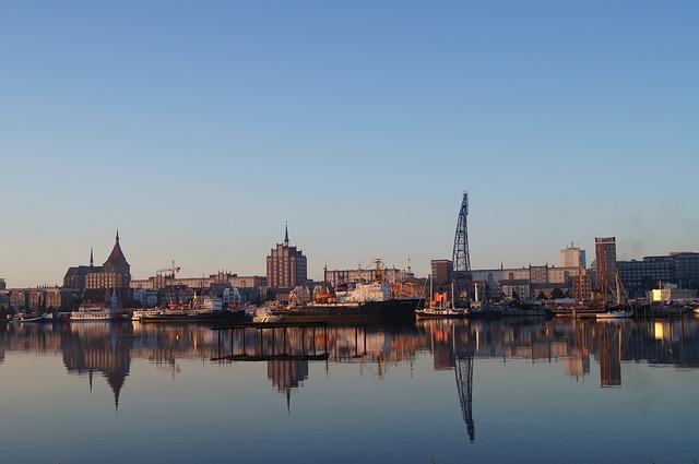 Panorama del porto di Rostock