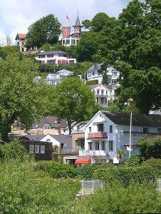 Vista del Blankenese vicino Amburgo