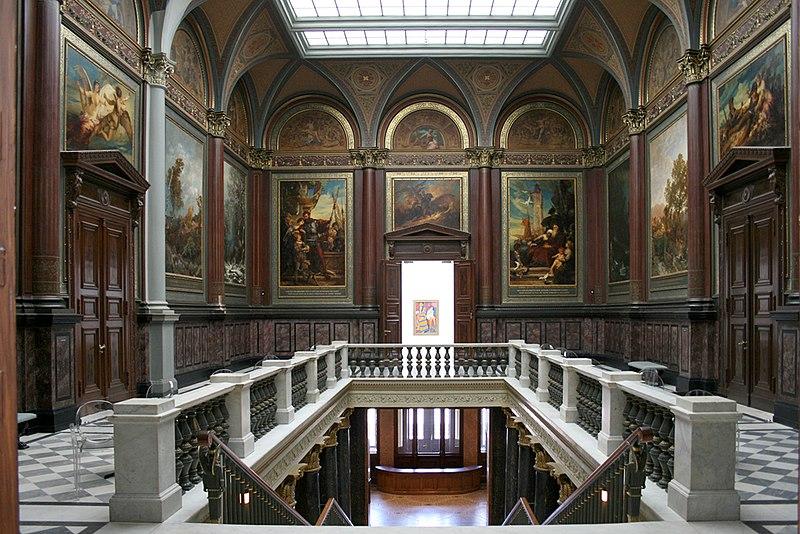 Interni del museo Kunsthalle di Amburgo