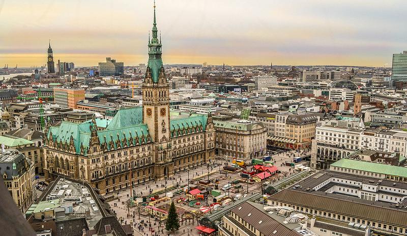 La Rathaus di Amburgo, il palazzo del municipio