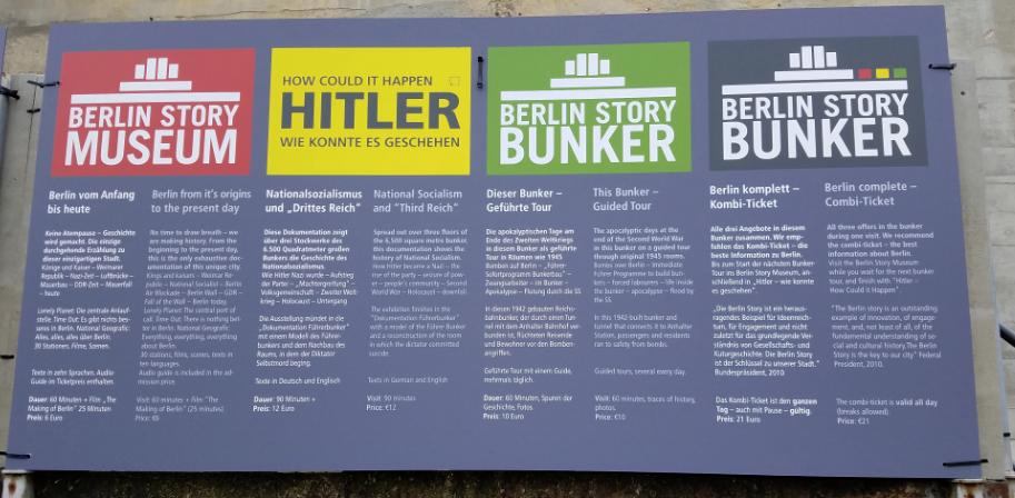 Le quattro sezioni del Berlin Story Museum, il museo sulla storia di Berlino