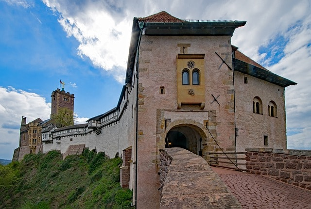 Il castello di Wartburg in Germania
