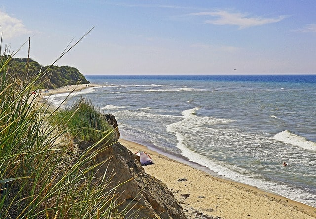 Una spiaggia di Arkona a Rugen Island