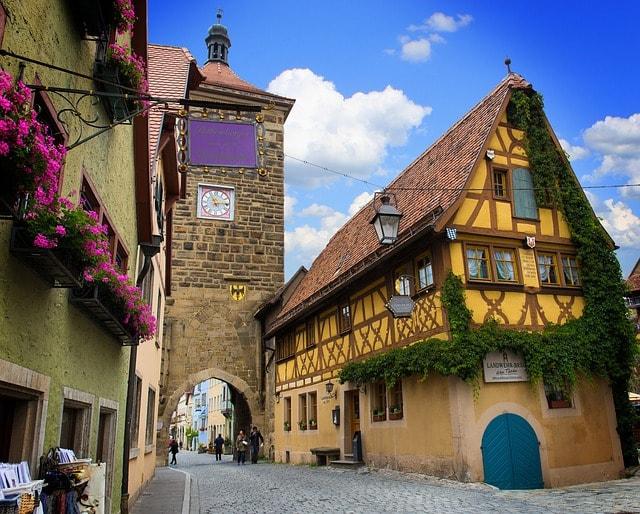 Una tappa della via Romantica in Germania