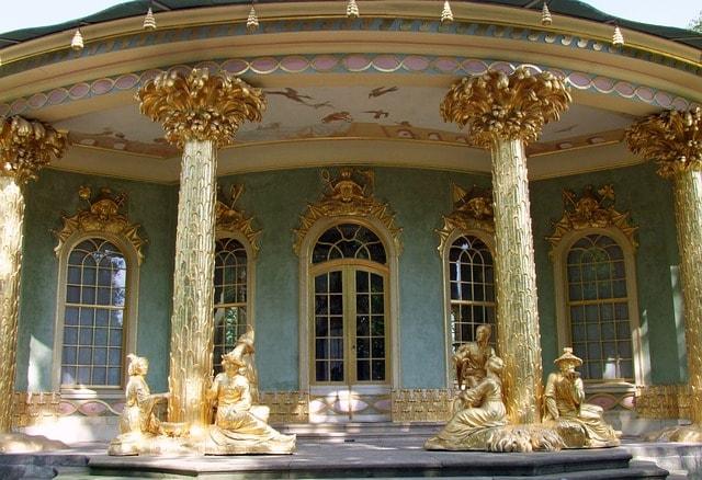 Particolare del palazzo di Sanssouci