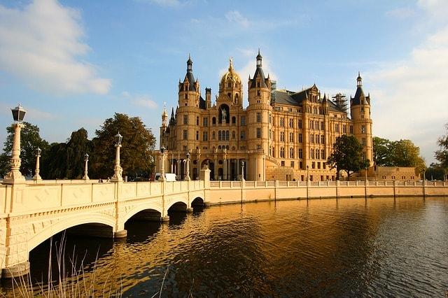 Veduta dal ponte del Castello di Schwerin