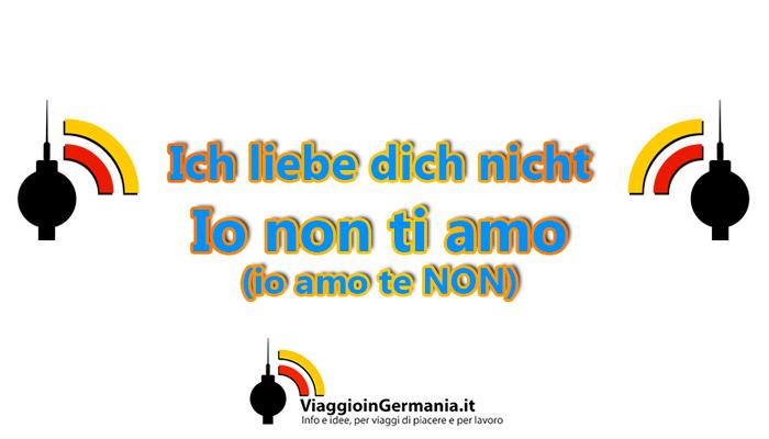 Come si dice io non ti amo in tedesco