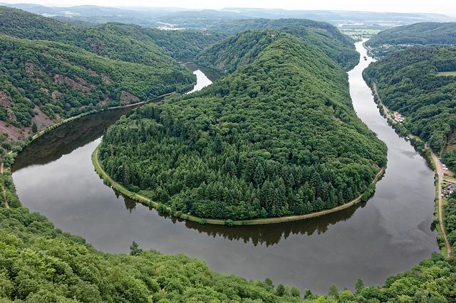 Il punto in cui il fiume Saar crea un arco